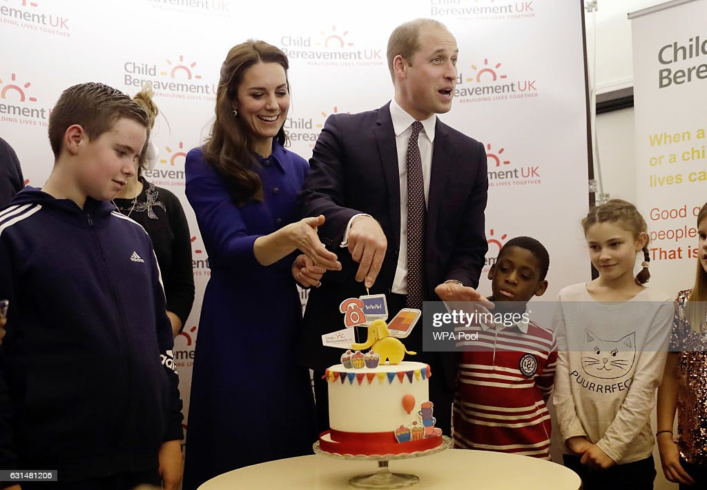 The Duke & Duchess Of Cambridge Visit A Child Bereavement UK Centre : News Photo