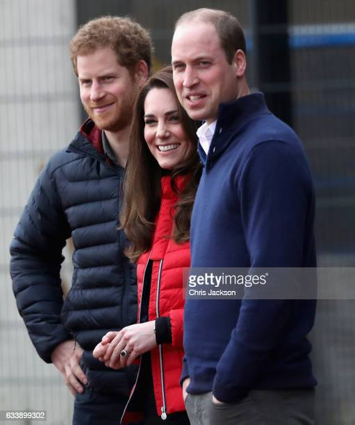 Prince William Duke of Cambridge and Catherine Duchess of Cambridge and Prince Harry join Team Heads Together at a London Marathon Training Day at...