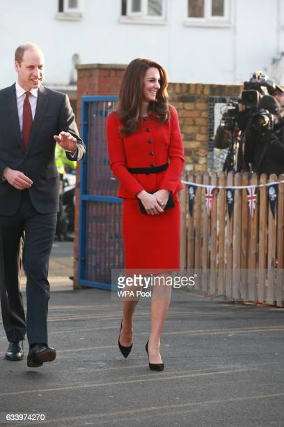 Prince William Duke of Cambridge and Catherine Duchess of Cambridge arrive to attend the Place2Be Big Assembly With Heads Together for Children's...