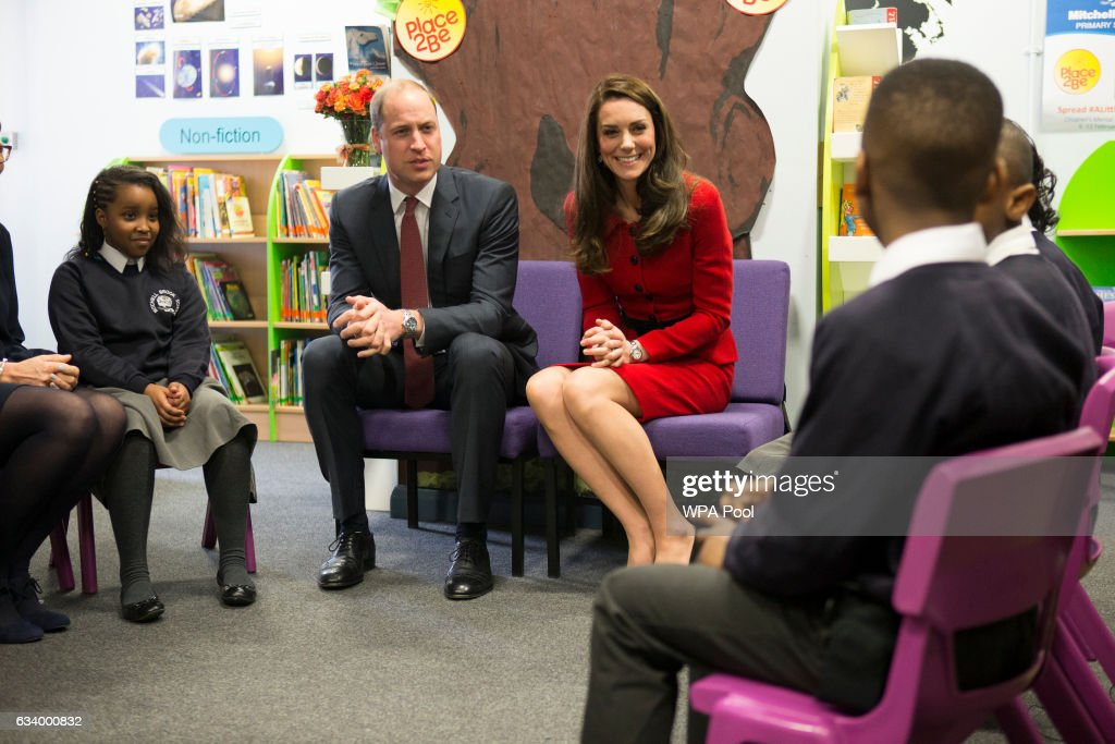 The Duke & Duchess Of Cambridge Attend Place2BeBig Assembly With Heads Together For Children's Mental Health Week : News Photo