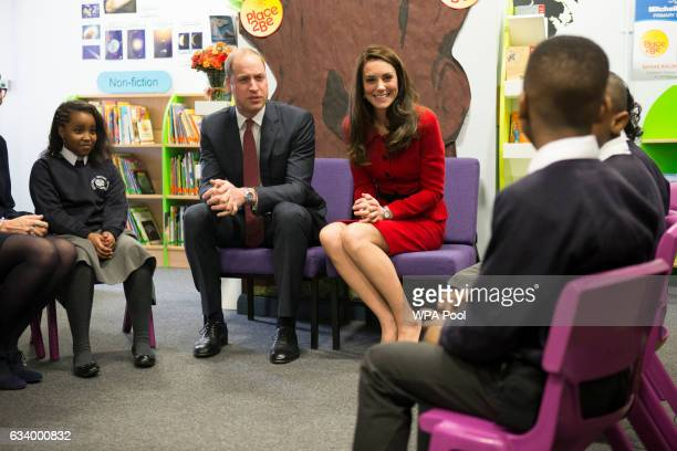 Prince William Duke of Cambridge and Catherine Duchess of Cambridge attend the Place2Be Big Assembly With Heads Together for Children's Mental Health...