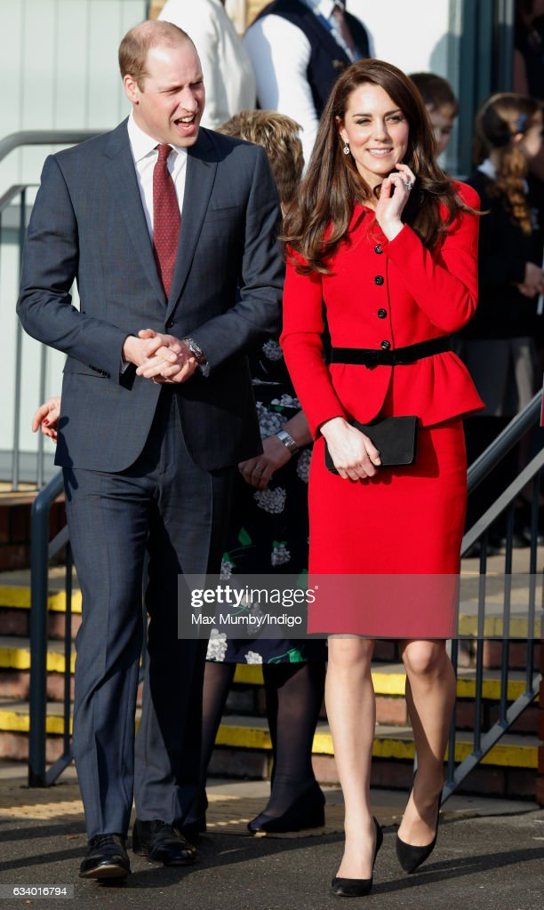 Prince William, Duke of Cambridge and Catherine, Duchess of Cambridge attend the Place2Be Big Assembly with Heads Together for Children's Mental Health Week at Mitchell Brook Primary School on February 6, 2017 in London, England.