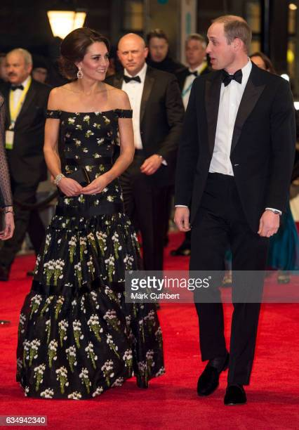 Prince William Duke of Cambridge and Catherine Duchess of Cambridge attend the 70th EE British Academy Film Awards at Royal Albert Hall on February...