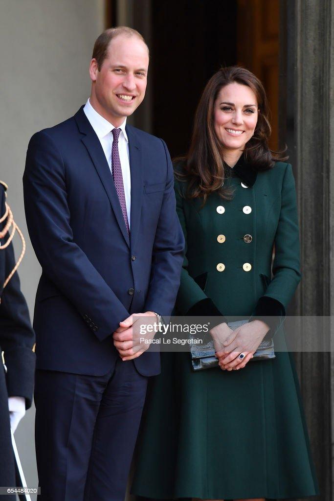 The Duke And Duchess Of Cambridge Visit Paris: Day One : Nachrichtenfoto