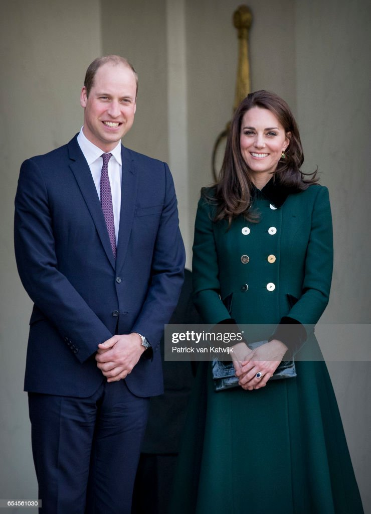 Duke and Duchess of Cambridge visit paris day 1 : News Photo