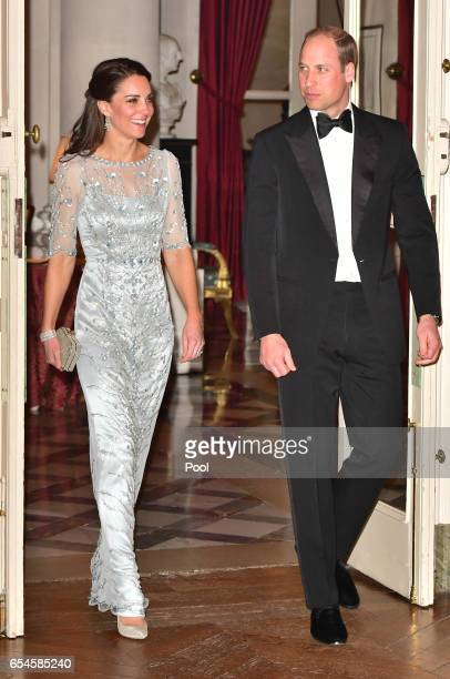 Prince William, Duke Of Cambridge and Catherine, Duchess of Cambridge arrives for a dinner hosted by Her Majesty's Ambassador to France, Edward...