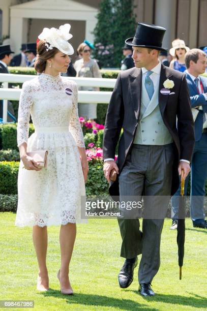 Prince William Duke of Cambridge and Catherine Duchess of Cambridge attend Royal Ascot 2017 at Ascot Racecourse on June 20 2017 in Ascot England