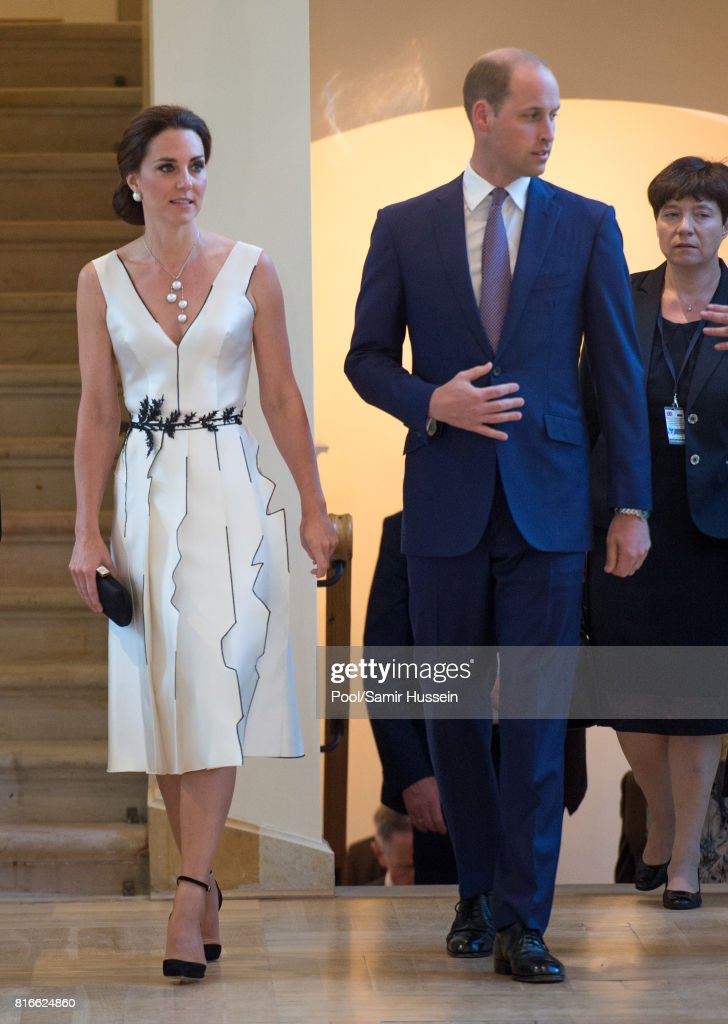 The Duke And Duchess Of Cambridge Visit Poland - Day 1 : News Photo