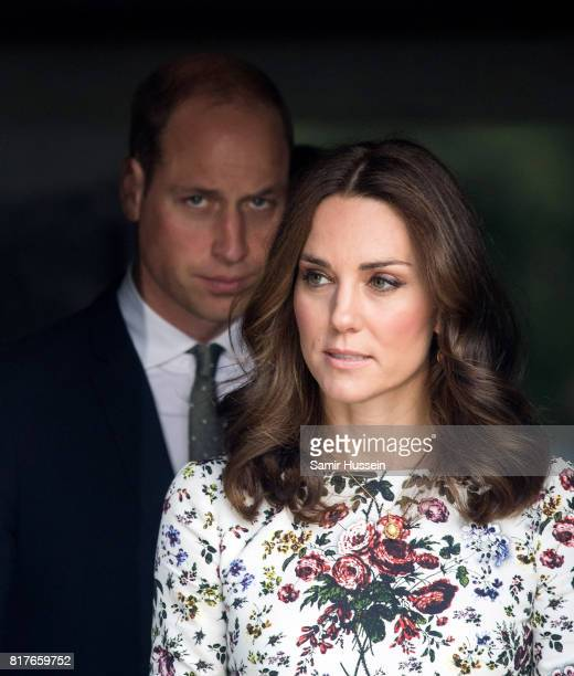 Prince William Duke of Cambridge and Catherine Duchess of Cambridge visit the Stutthof concentration camp during an official visit to Poland and...