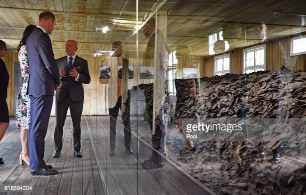 Prince William Duke of Cambridge and Catherine Duchess of Cambridge visit the former Nazi German concentration camp Stutthof during an official visit...