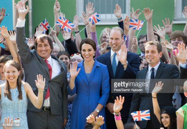Prince William Duke of Cambridge and Catherine Duchess of Cambridge visit Strassenkinder a charity which supports young people from disadvantaged...