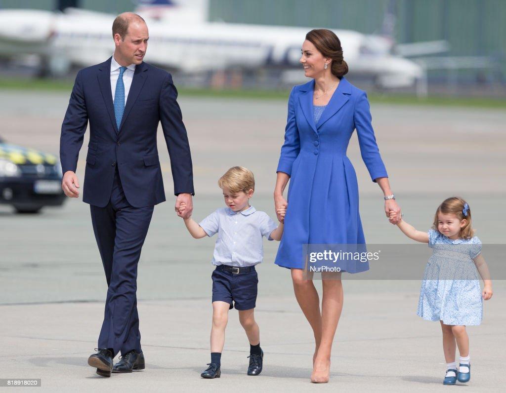 Duke and Duchess of Cambridge leaves Poland : News Photo