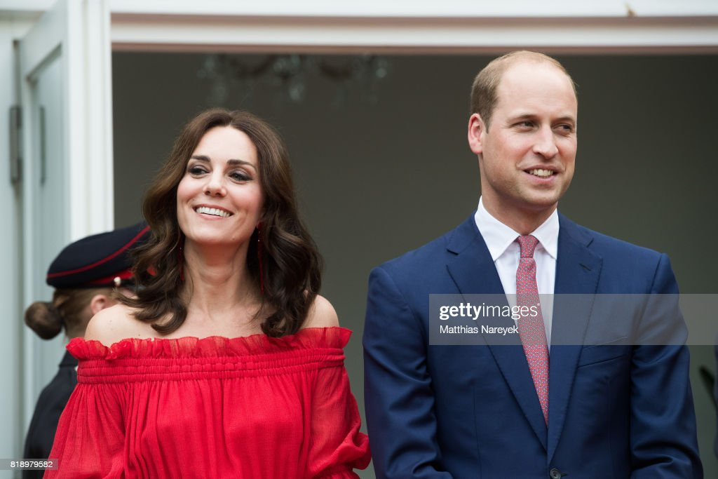Prince William, Duke of Cambridge and Catherine, Duchess of Cambridge attend The Queen's Birthday Party at the British Ambassadorial Residence on the first day of their visit to Germany on July 19, 2017 in Berlin, Germany. The royal couple are on a three-day trip to Germany that includes visits to Berlin, Hamburg and Heidelberg.