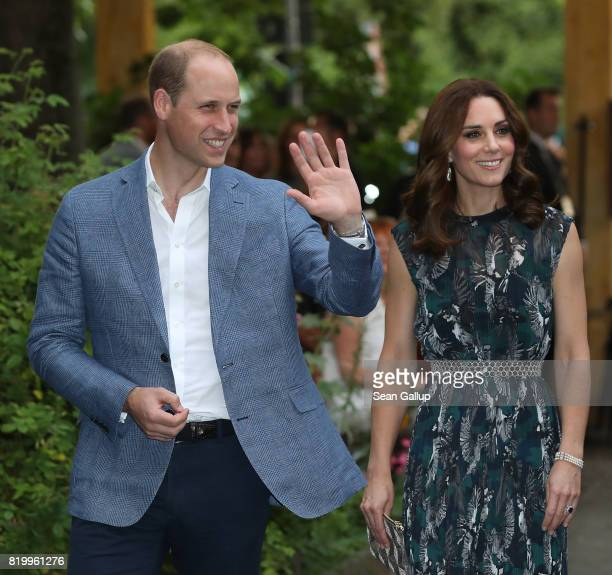 Prince William Duke of Cambridge and Catherine Duchess of Cambridge arrive at a reception at Claerchen's Ballhaus dance hall following a day in...