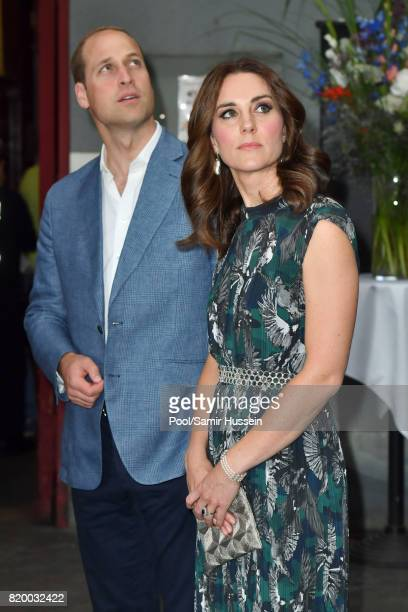 Prince William Duke of Cambridge and Catherine Duchess of Cambridge attends a reception at Claerchen's Ballhaus dance hall during an official visit...