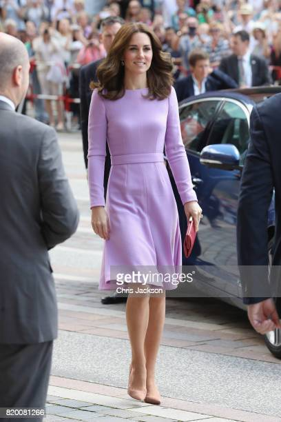 Prince William Duke of Cambridge and Catherine Duchess of Cambridge visit the Maritime Museum to celebrate the joint UKGerman year of science which...