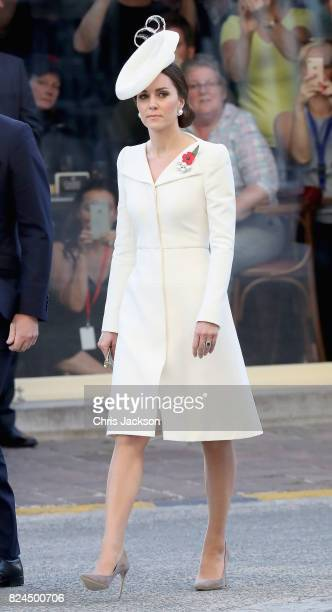 Prince William, Duke of Cambridge and Catherine, Duchess of Cambridge attend the Last Post ceremony, which has taken place every night since 1928, at...