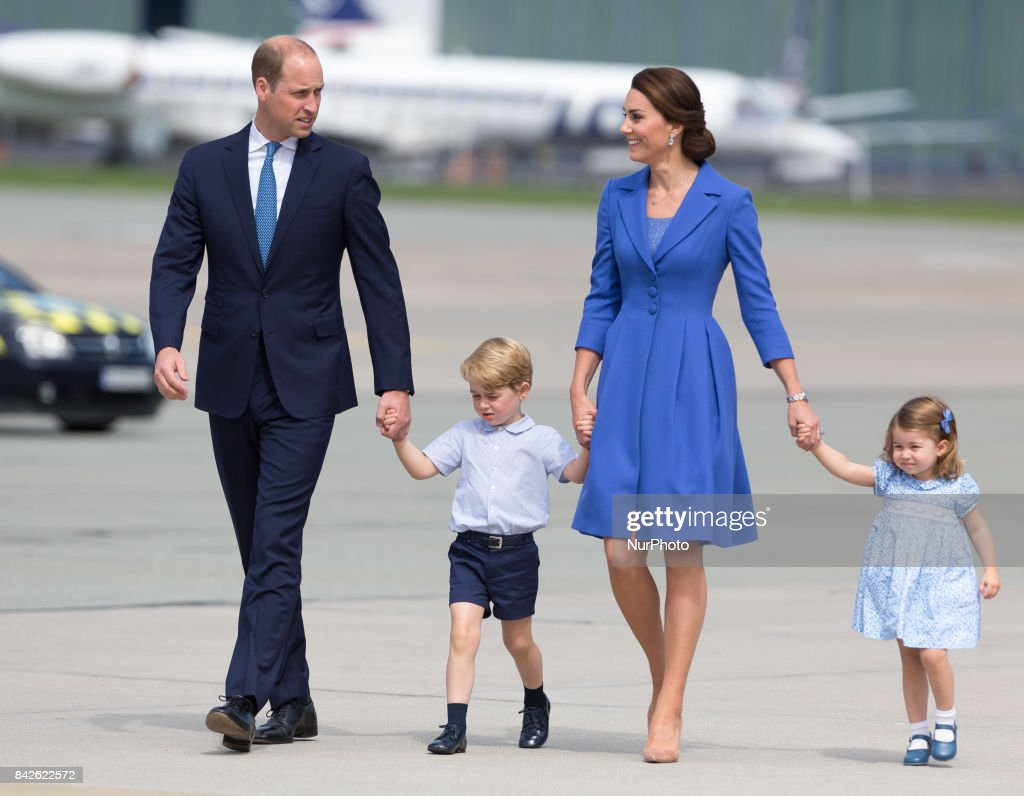 Duke and Duchess of Cambridge with their chlidren (archives) : News Photo