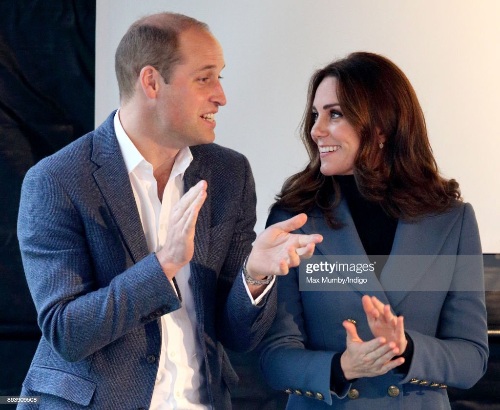 Prince William, Duke of Cambridge and Catherine, Duchess of Cambridge attend the Coach Core graduation ceremony for more than 150 Coach Core apprentices at The London Stadium on October 18, 2017 in London, England.