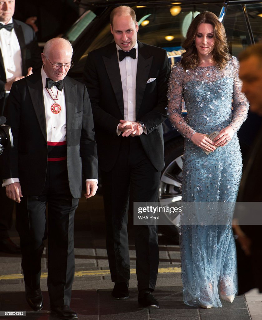 Prince William, Duke of Cambridge and Catherine, Duchess of Cambridge attend the Royal Variety Performance at the Palladium Theatre on November November 24, 2017 in London, England. The Royal Variety Performance takes place every year, either in London or in a theatre around the United Kingdom. The event is in aid of the Royal Variety Charity, formally, The Entertainment Artistes Benevolent Fund, of which The Queen is Patron. The money raised from the show helps hundreds of entertainers throughout the UK, who need help and assistance as a result of old age, ill-health, or hard times.