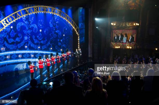 Prince William Duke of Cambridge and Catherine Duchess of Cambridge attend the Royal Variety Performance at the Palladium Theatre on November...