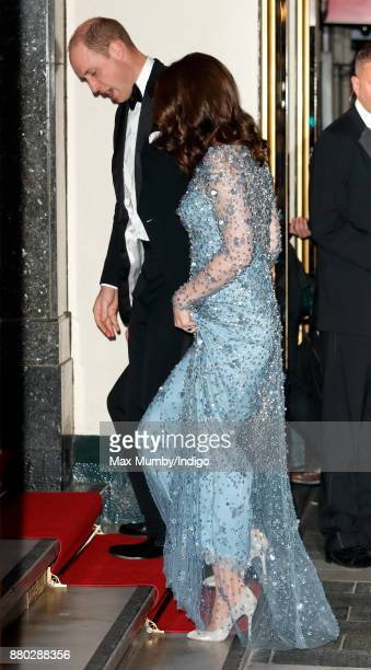 Prince William, Duke of Cambridge and Catherine, Duchess of Cambridge attend the Royal Variety Performance at the Palladium Theatre on November 24,...