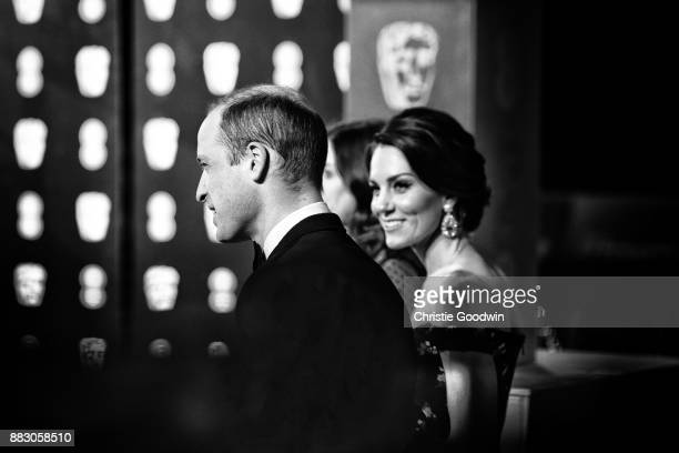 Prince William Duke of Cambridge and Catherine Duchess of Cambridge at the British Academy Film Awards 2017 at The Royal Albert Hall on February 12...