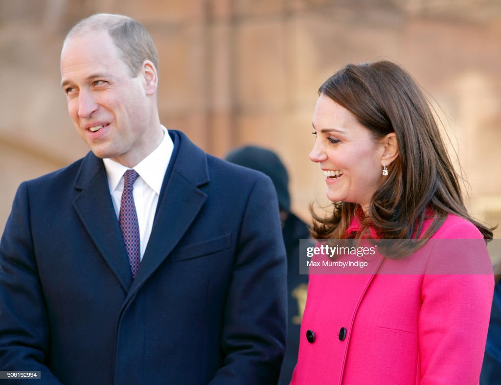 Prince William, Duke of Cambridge and Catherine, Duchess of Cambridge visit Coventry Cathedral on January 16, 2018 in Coventry, England.