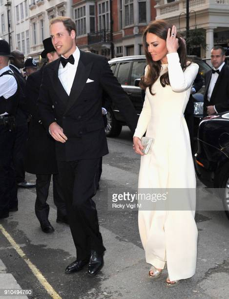Prince William Duke of Cambridge and Catherine Duchess of Cambridge arrive at Claridge's Hotel on May 8 2012 in London England