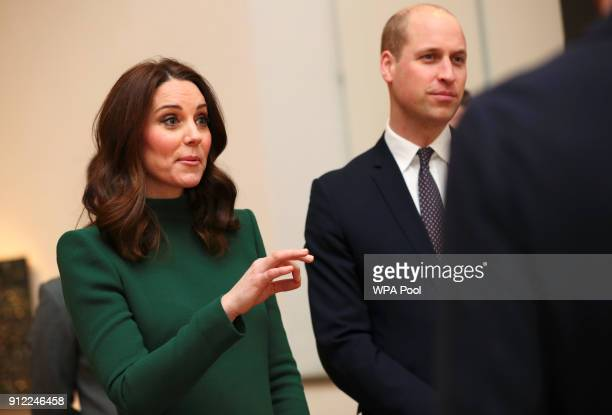 Prince William Duke of Cambridge and Catherine Duchess of Cambridge visit the ArkDes museum during day one of their Royal visit to Sweden and Norway...