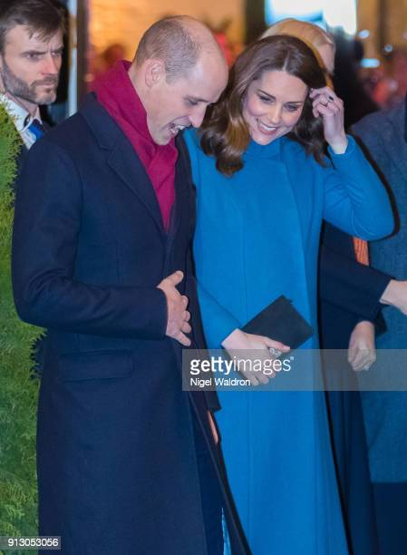 Prince William Duke of Cambridge and Catherine Duchess of Cambridge leave after visiting the Mesh a leading independent initiative for Norwegian...