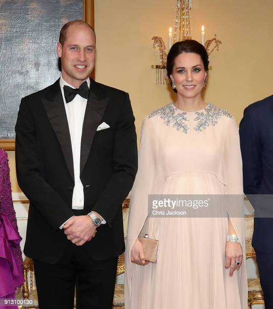 Prince William Duke of Cambridge and Catherine Duchess of Cambridge attend a dinner at the Royal Palace on day 3 of their visit to Sweden and Norway...