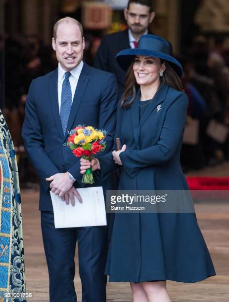 Prince William Duke of Cambridge and Catherine Duchess of Cambridge attends the 2018 Commonwealth Day service at Westminster Abbey on March 12 2018...