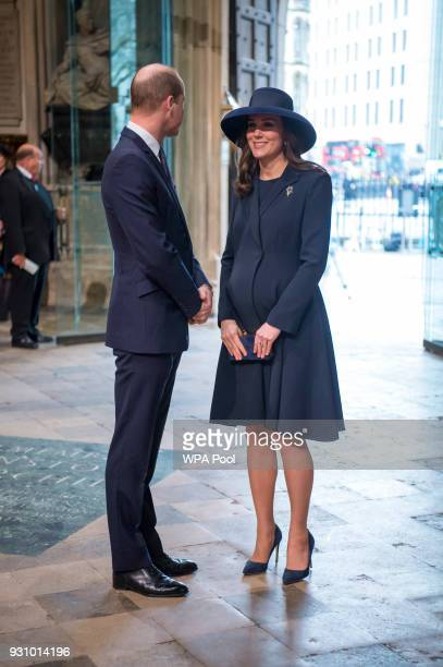 Prince William Duke of Cambridge and Catherine Duchess of Cambridge attend the Commonwealth Service at Westminster Abbey on March 12 2018 in London...