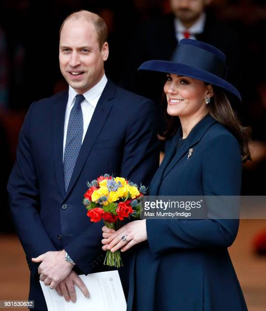 Prince William Duke of Cambridge and Catherine Duchess of Cambridge attend the 2018 Commonwealth Day service at Westminster Abbey on March 12 2018 in...