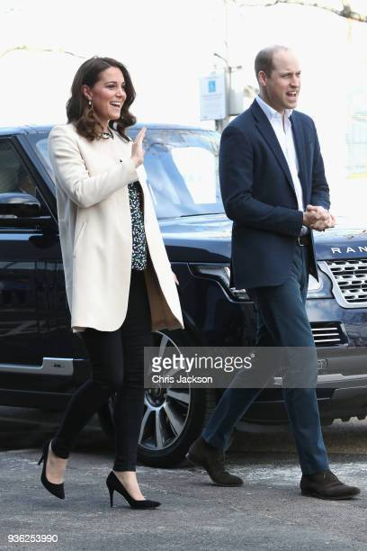 Prince William Duke of Cambridge and Catherine Duchess of Cambridge visit SportsAid to undertake engagements celebrating the Commonwealth at the...