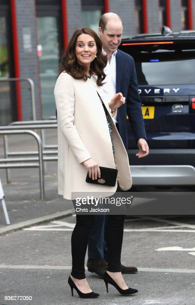 Prince William Duke of Cambridge and Catherine Duchess of Cambridge depart SportsAid after undertaking engagements celebrating the Commonwealth at...