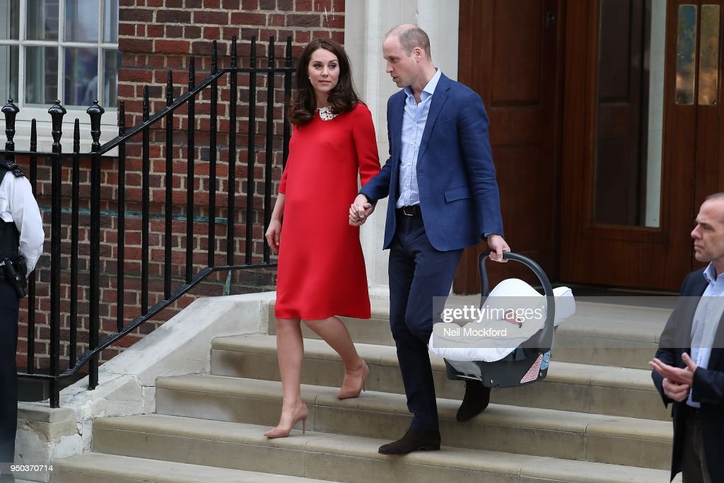 The Duke & Duchess Of Cambridge Depart The Lindo Wing With Their New Baby Boy -  April 23, 2018
