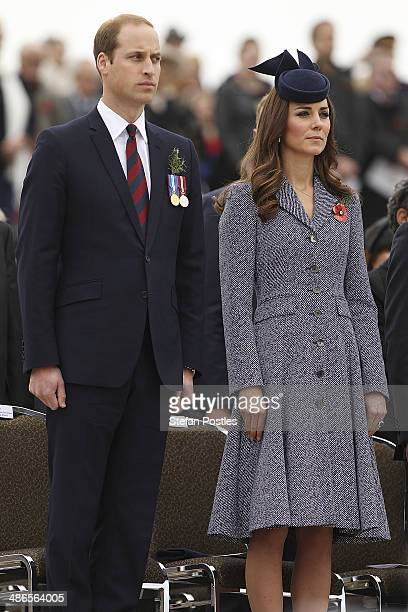 Prince William, Duke of Cambridge and Catherine, the Duchess of Cambridge during an ANZAC Day commemorative service at the Australian War Memorial on...