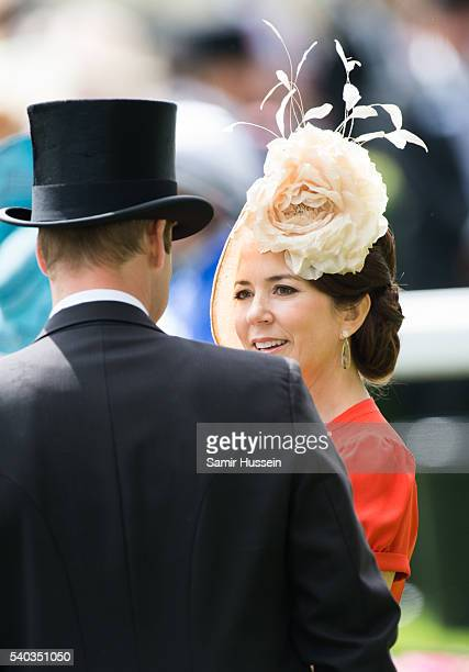 Prince William Duke of Cambridge and Crown Princess Mary of Denmark attend day 2 of Royal Ascot at Ascot Racecourse on June 8 2016 in Ascot England