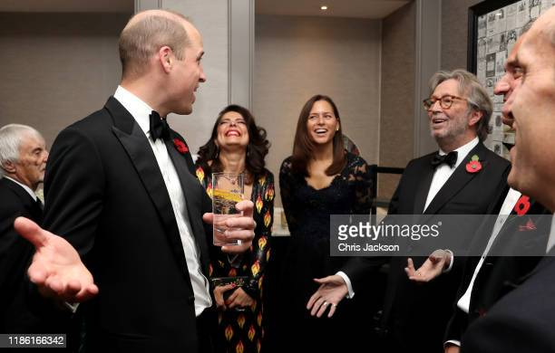Prince William, Duke of Cambridge and Eric Clapton attend the London's Air Ambulance Charity gala at Rosewood London on November 07, 2019 in London,...