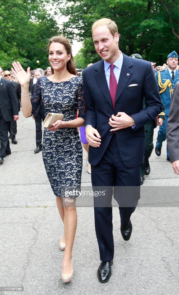Prince William, Duke of Cambridge and his wife Catherine, Duchess of Cambridge, arrive at an official welcoming ceremony at Rideau Hall on June 30, 2011 in Ottowa, Canada. The newly married Royal Couple have arrived in Canada today for their first joint overseas tour. Ottawa is the start of a 12-day visit to North America which will take in some of the more remote areas of the country such as Prince Edward Island, Yellowknife and Calgary. The Royal couple will also join millions of Canadians to take part in tomorrow's Canada Day celebrations which mark Canada's 144th Birthday.