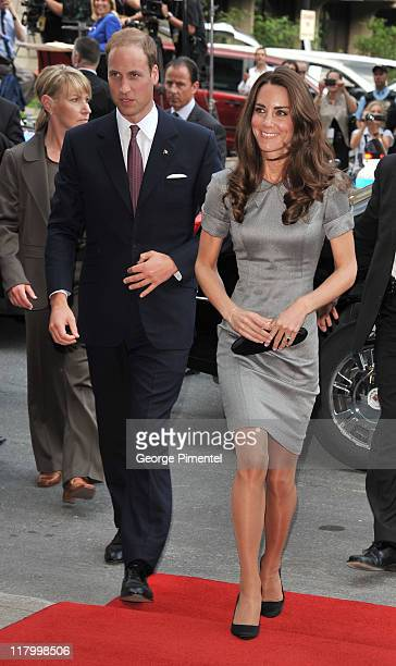 Prince William Duke of Cambridge and his wife Catherine Duchess of Cambridge attend a cooking workshop and reception at the Institut De Tourisme et...
