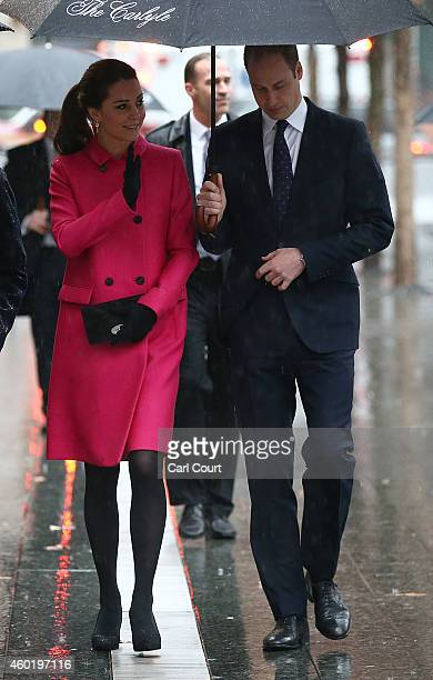 Prince William Duke of Cambridge and his wife Catherine Duchess of Cambridge during a visit to the National September 11 Memorial Museum on December...