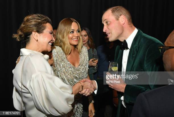 Prince William, Duke of Cambridge and Patron of Centrepoint, meets Rita Ora as he marks the charity's 50 years of tackling youth homelessness, at The...