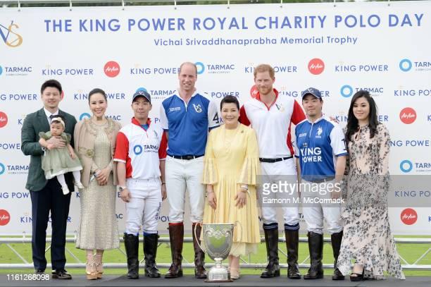 Prince William Duke of Cambridge and Prince Harry Duke of Sussex pose with Ravi Itiravivong Voraviprabha Srisene Srivaddhanaprabha Voramas...