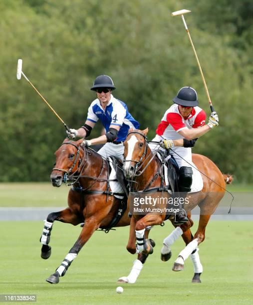 Prince William, Duke of Cambridge and Prince Harry, Duke of Sussex take part in the King Power Royal Charity Polo Match for the Khun Vichai...
