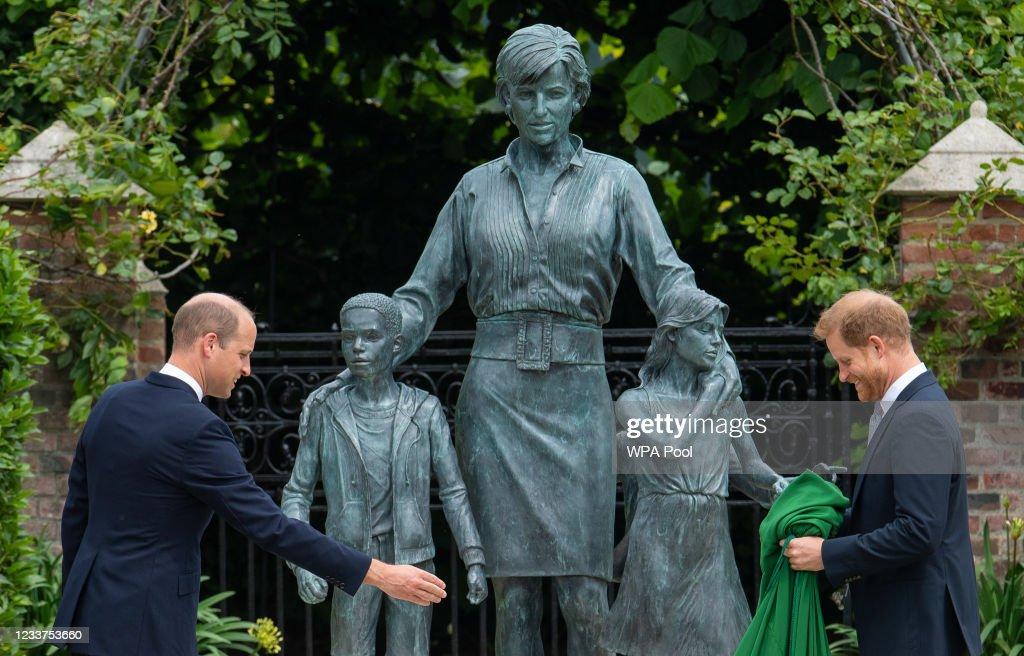 Diana, Princess Of Wales Statue Unveiling At Kensington Palace : News Photo