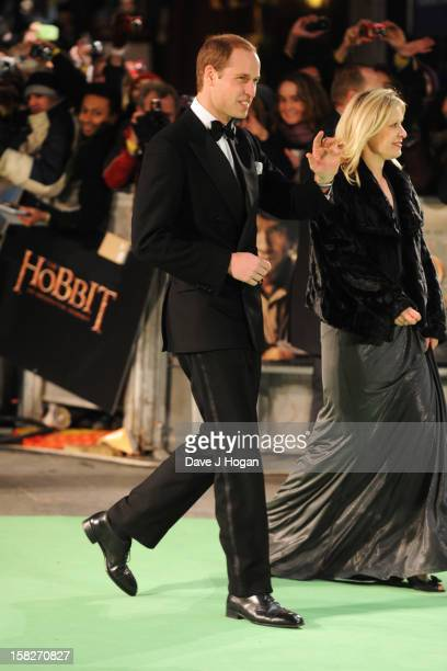 """Prince William, Duke of Cambridge and Tessa Street attend a royal film performance of """"The Hobbit: An Unexpected Journey"""" at The Empire Leicester..."""