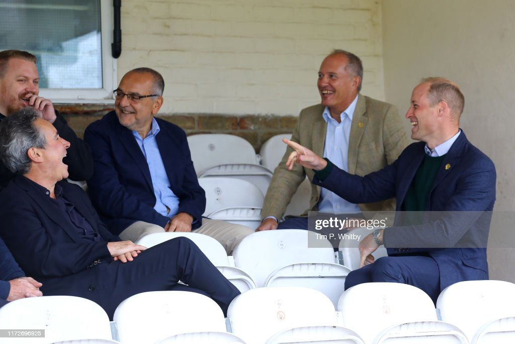 The Duke Of Cambridge Visits Hendon FC As Part Of The Heads Up Campaign : News Photo